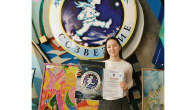 Photo of С наградой из космической столицы вернуласьКамилла Аскарова из Отеген батыра